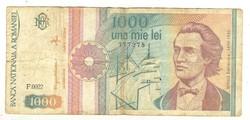 1000 lei 1991 1. Románia