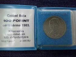 Czóbel Béla 100 Forint 1983 eredeti banki csomagolásban / id 2961/