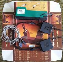 Morze készülék fülhallgatóval 1969-es DDR (NDK),kezelésiutasítás,doboz,3m-es hosszabbító kábelel