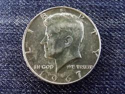 USA Kennedy fél dollár .400 ezüst 1/2 Dollár 1967 / id 14025/