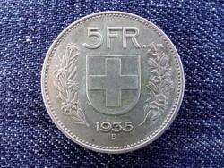 Svájc ezüst (.835) 5 Frank 1935 B / id 13852/