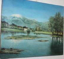Antik szignált festmény G248