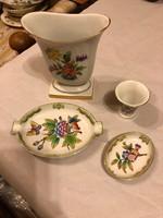 Herendi porcelán 4 db-os dísztárgy szett kiváló állapotban