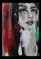 Pop Art stílusú, Női portrék, kortárs festmény