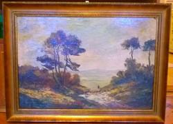Festmény 1900-as évek jelzett