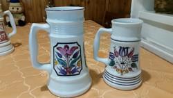 Antik Alföldi porcelán kézzel festett  korsó 2 db eladó!