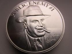 USA Al Capone befektetési 0.999ag 2uncia ezüst érme
