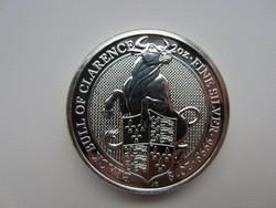 2018 Bika Britannia befektetési 0.9999ag 2uncia ezüst érme