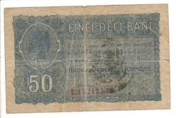 50 bani 1917 pecsételt Románia