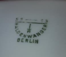 Haldenwanger Berlin, 55-13, 5000 gr, 31 cm, és egy három kilós, 250 mm átmérőjű