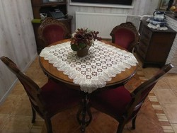 Ónémet 4 székes étkező