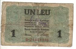 1 leu 1917 pecsételt Románia 2.