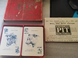 1904 Ad Pit Game Parties Parker Brothers-Régi nagyon ritka kártya játék. USA-ban