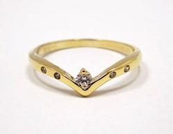 Köves arany gyűrű (ZAL-Au86169)