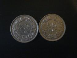 Svájc 1/2 Frank 1968, 1969