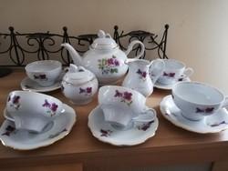 Ibolyás német Kahla 5 személyes teás készlet