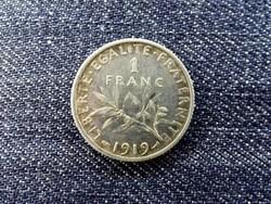 Franciaország Harmadik Köztársaság .835 ezüst 1 Frank 1919 / id 13935/