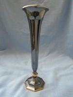 Valami csodálatos német jelzett ezüst hatású, talapzatánál és a fölött aranyozott váza