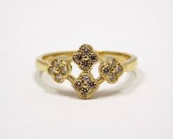 Virágos köves arany gyűrű (ZAL-Au86161)