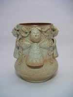 Kiss Rooz kerámia váza angyalokkal