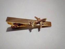 Arany színű, repülögépes nyakkendőtű