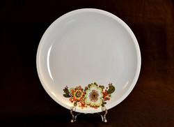 Retró Alföldi virágmintás nagyméretű porcelán tál - tálaló - süteményes