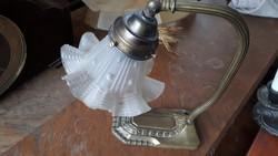 Antik sárgaréz íróasztali lámpa