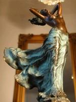 Karácsonyi ajándék ötletek ☆ Női akt a szélben bronz szobor ☆