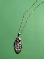Rose aranyozott  nagyméretű ezüst medál +nyaklánc