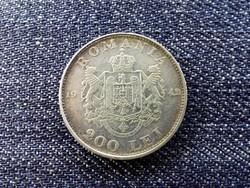 Románia I. Mihály .835 ezüst 200 Lej 1942 / id 13921/