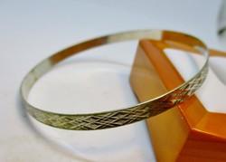Szépen megőrzött antik ezüst karkötő/karperec