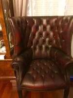 Nagyméretü Chesterfield Bör fotel (portásfotel)