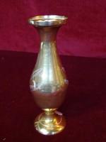 Indiai réz váza, 15 cm magas.