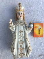 Antik Szent antik szobor, kegytárgy, porcelán figura