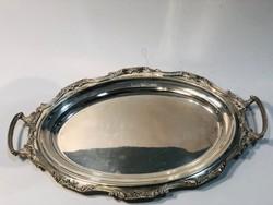 Barokk ezüst tálca 800
