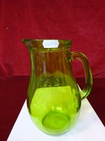 Zöld üveg vizeskancsó, egy literes.