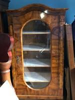 B27 Antik Biedermeier üveges szekrény/vitrin