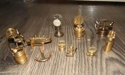 11 db Miniatűr Réz Vitrindísz gyűjtemény