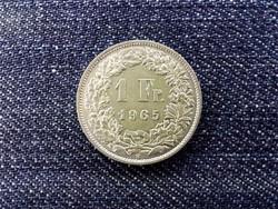 Svájc .835 ezüst 1 Frank 1965 B / id 13947/