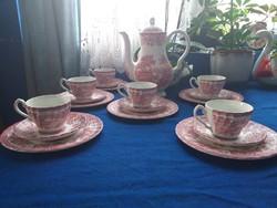 6 személyes pink teás,kávés készlet