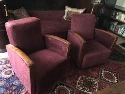 Art deco fotel, fotelpár (ritka forma)