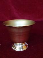 Indiai réz pohár, 6,5 cm magas, felső átmérője 7 cm.
