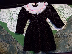 Gyönyörű bársony kislány ruha,szép csipke galérral 104-es