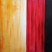 """AUKCIÓ! MODERN Nagyméretű olajfestmény, 1x1m """"Fény,bor,föld"""" vászonfestmény!Közvetlen a művésztől!"""