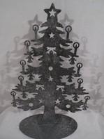 Bádog karácsonyfa - NAGY 30 x 20 cm - különleges - szép - ízléses - örökös darab
