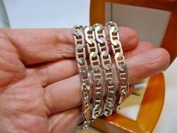 Szépen megőrzött antik ezüst nyaklánc
