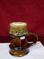 Zsolnay  porcelán sörös korsó. magassága 16 cm.