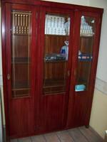 Szecessziós háromajtós szekrény