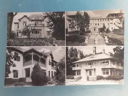 Régi képeslap 1962 Balatonalmádi üdülők