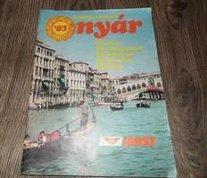 IBUSZ utazási prospektus retro nosztalgia 1983